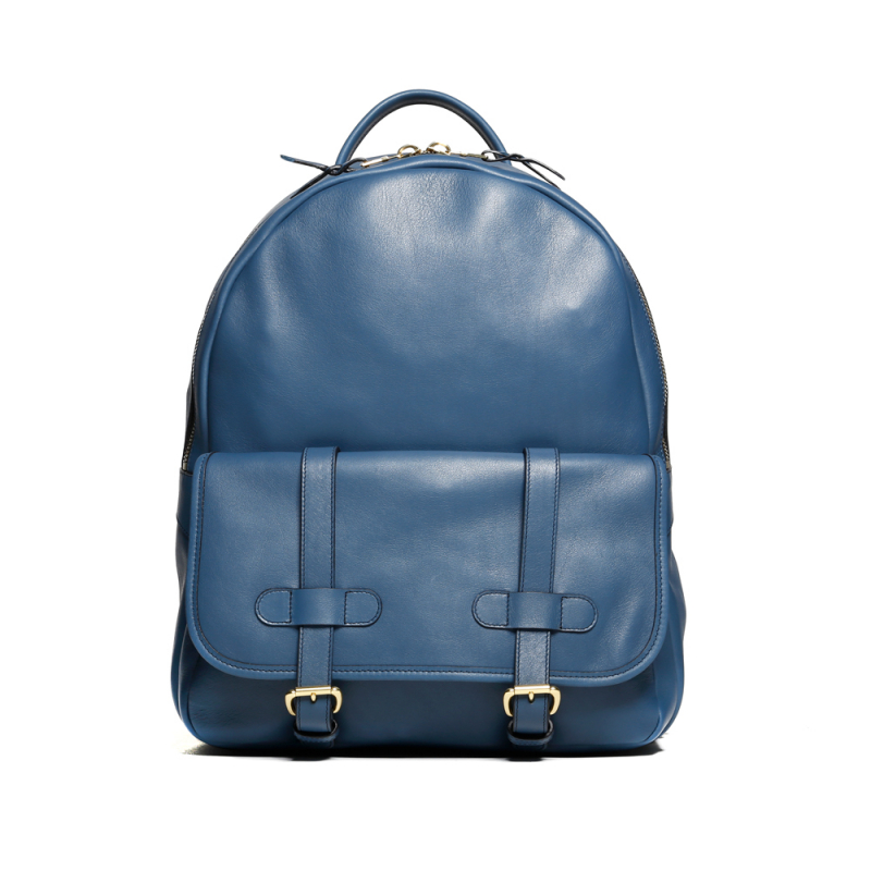 Hampton Backpack - Stellar Blue - Tumbled Leather