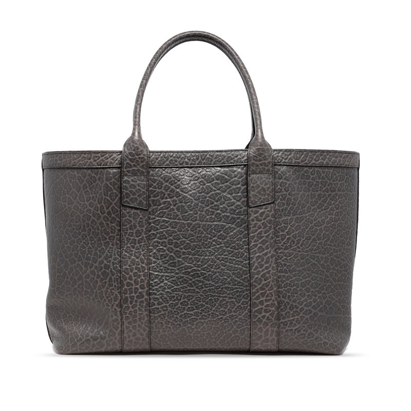 Large Working Tote - Grey - Shrunken Grain Leather