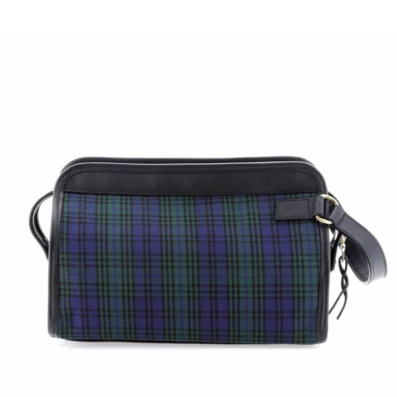 Large Travel Kit - Black Watch Tartan/Black - Canvas