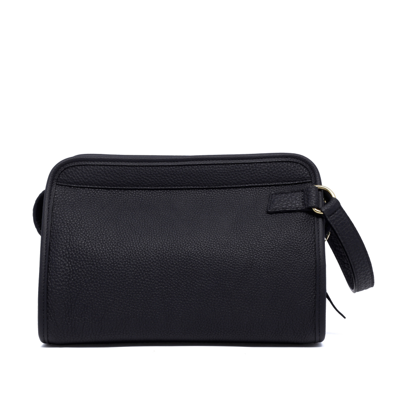 Large Travel Kit - Black - Shrunken Calf