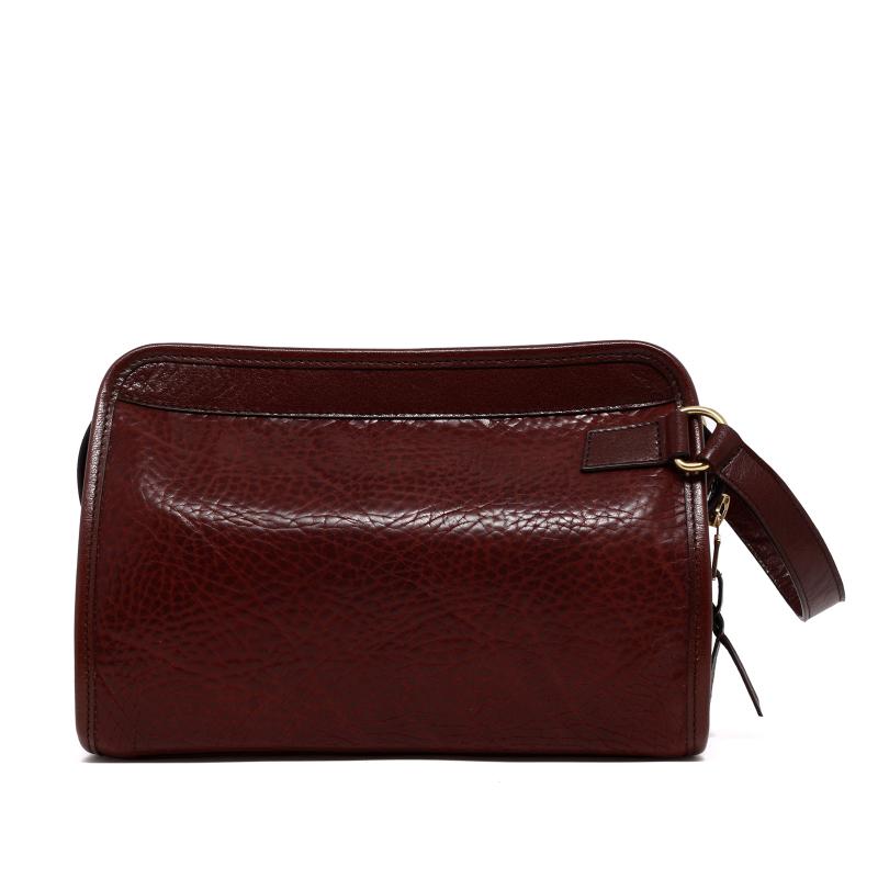 Large Travel Kit - Chocolate - Pebbled Tumbled Leather