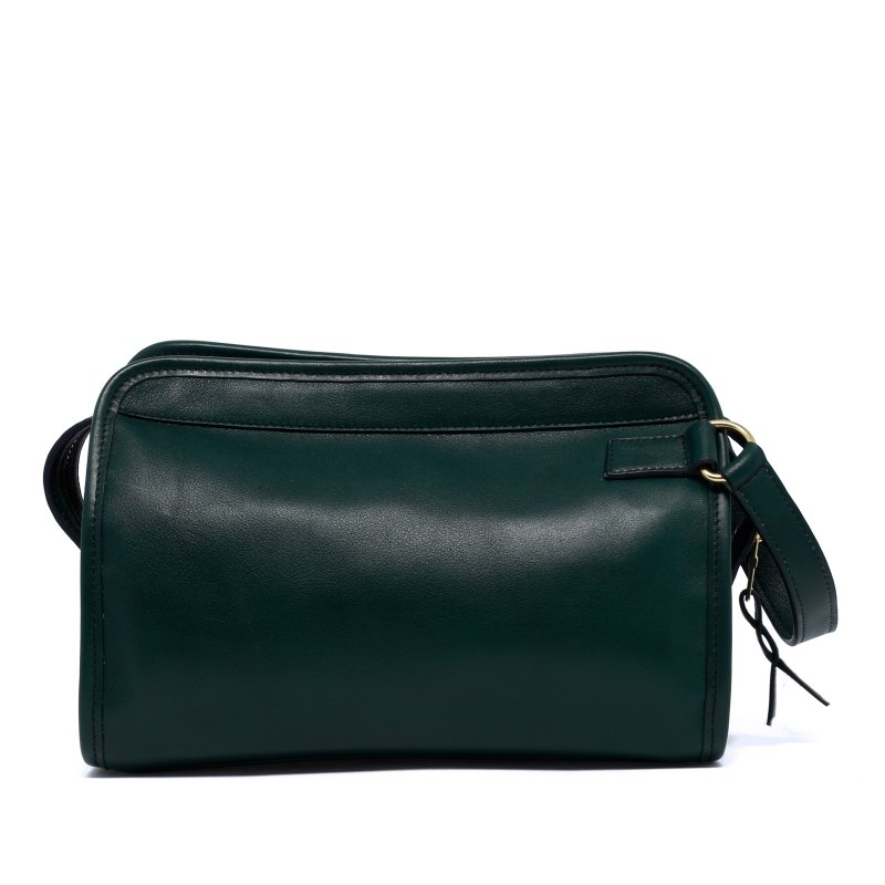 Large Travel Kit - Forest Green - Tumbled Leather in