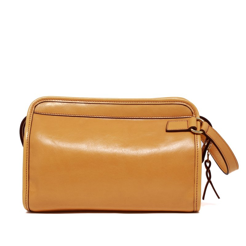 Large Travel Kit - Dark Yellow Ochre - Smooth Tumbled Leather in