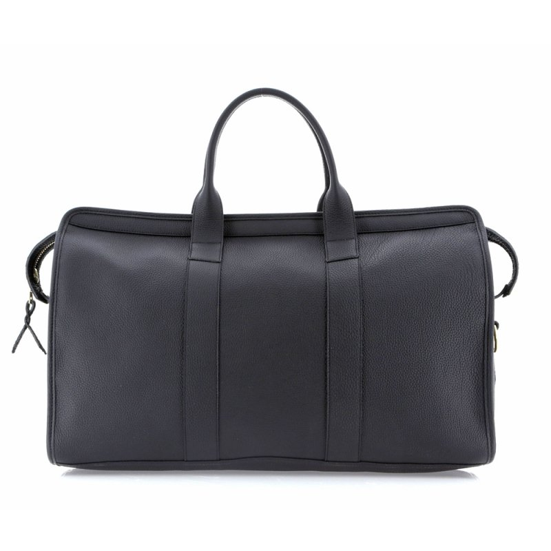 Signature Travel Duffle - Black - Shrunken Calf Leather