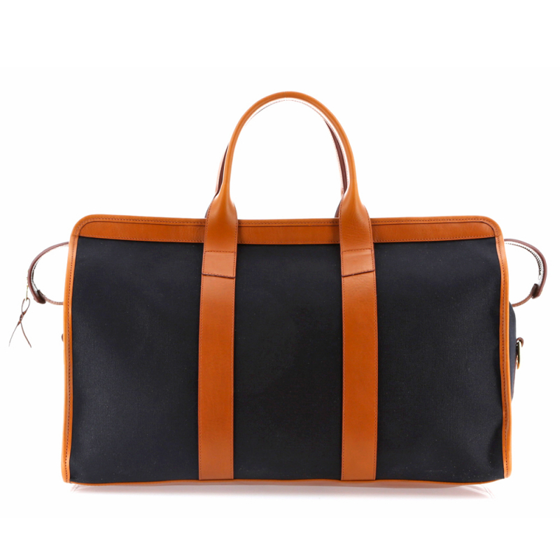 Signature Travel Duffle - Black/Cognac - Canvas