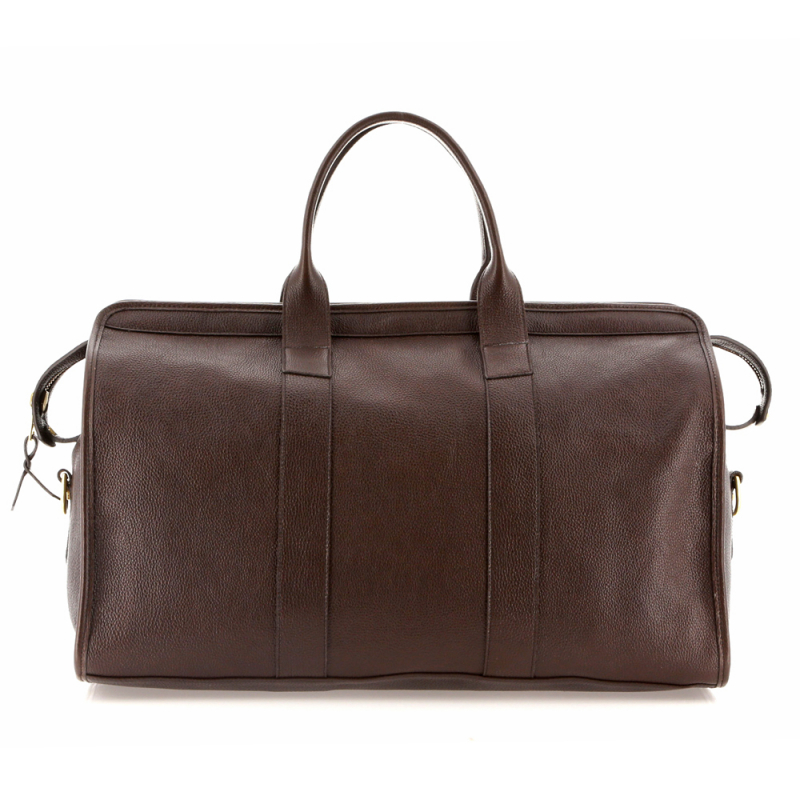 Signature Travel Duffle - Chocolate - Pebble Grain Leather