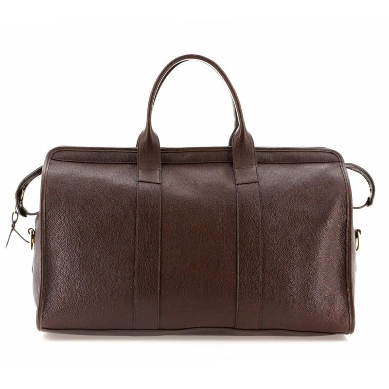 Signature Travel Duffle - Chocolate - Pebble Grain Leather