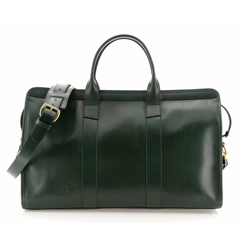 Signature Travel Duffle - Forest Green - Harness Belting Leather