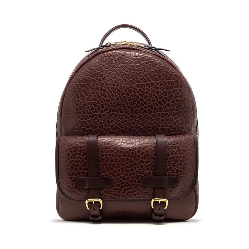 Hampton Zipper Backpack-Chocolate in