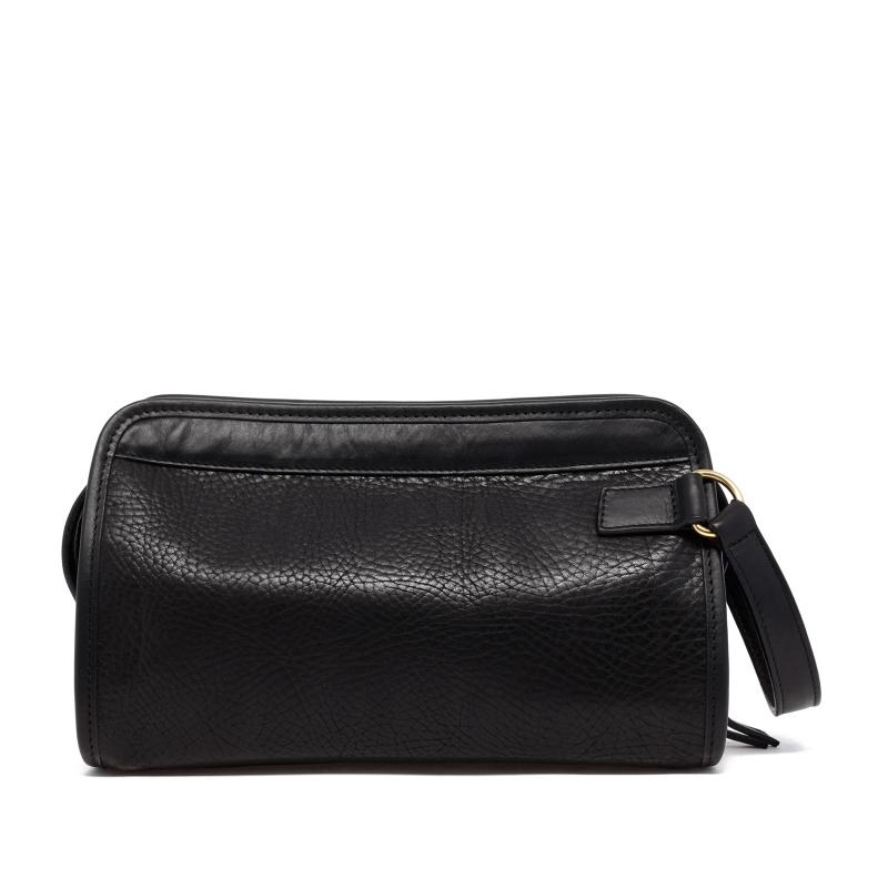 Small Travel Kit - Black - Pebbled Tumbled Leather