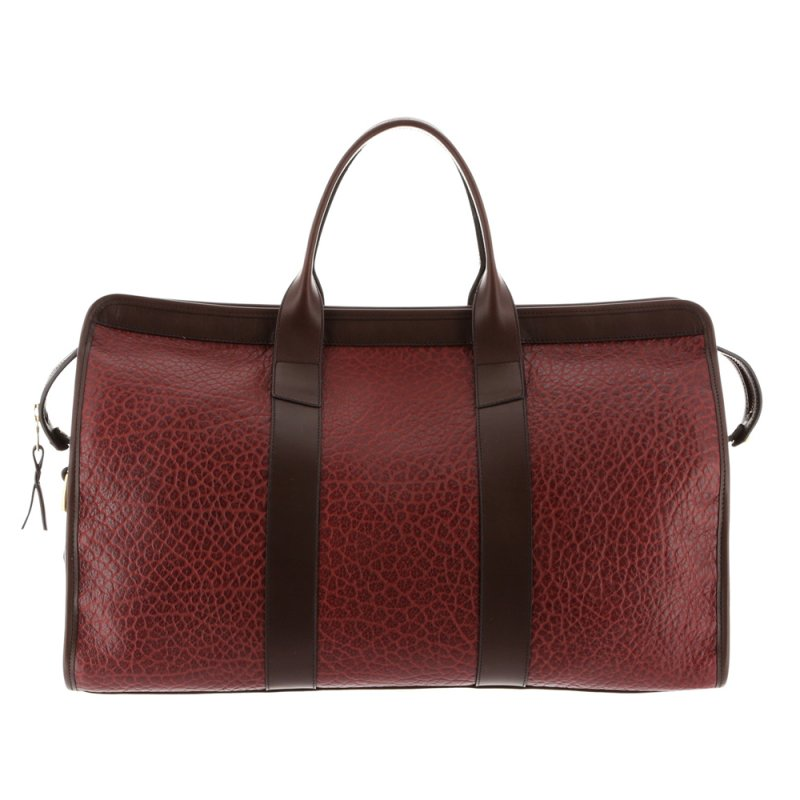 Signature Duffle - Maroon/Chocolate - Shrunken Grain Leather