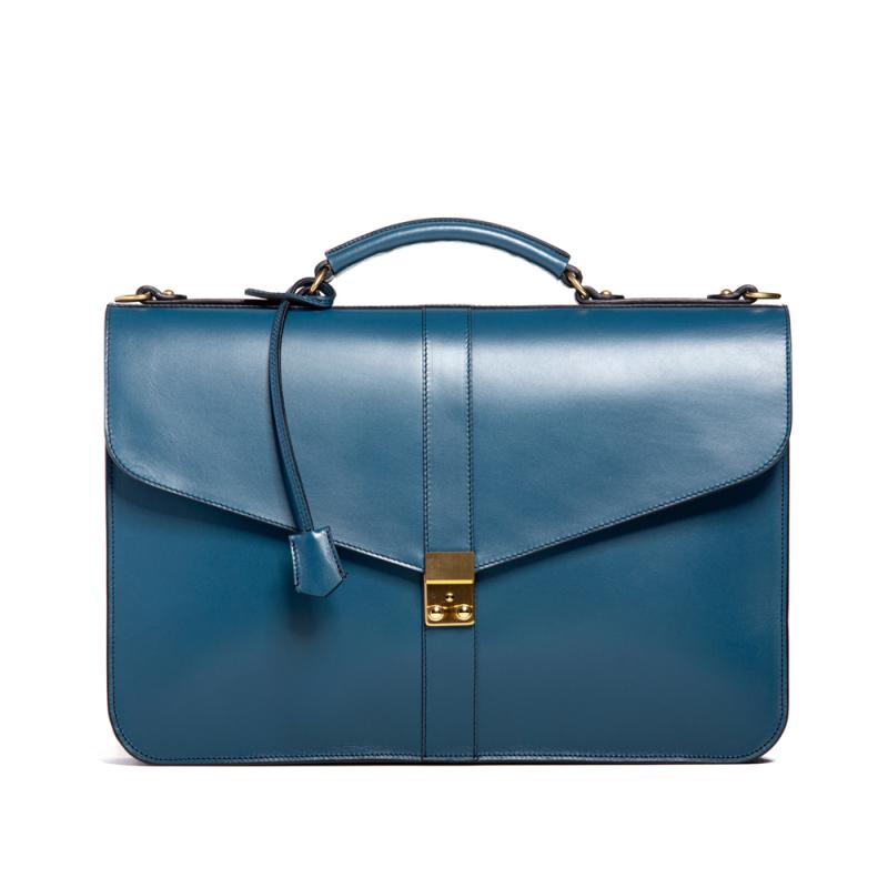 Lock Briefcase - Stellar Blue - Belting Leather