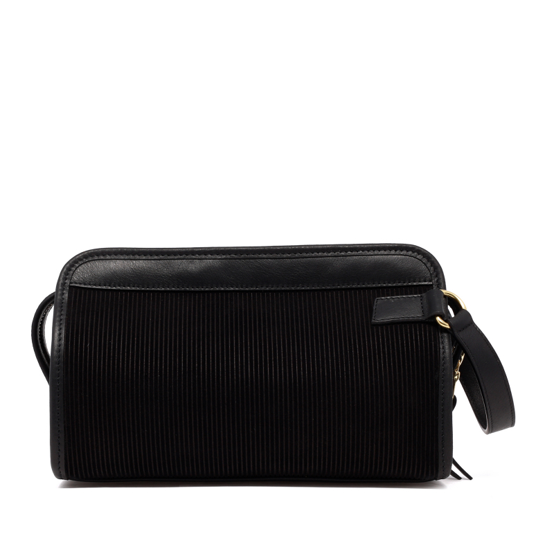 Small Travel Kit - Black - Corduroy Suede