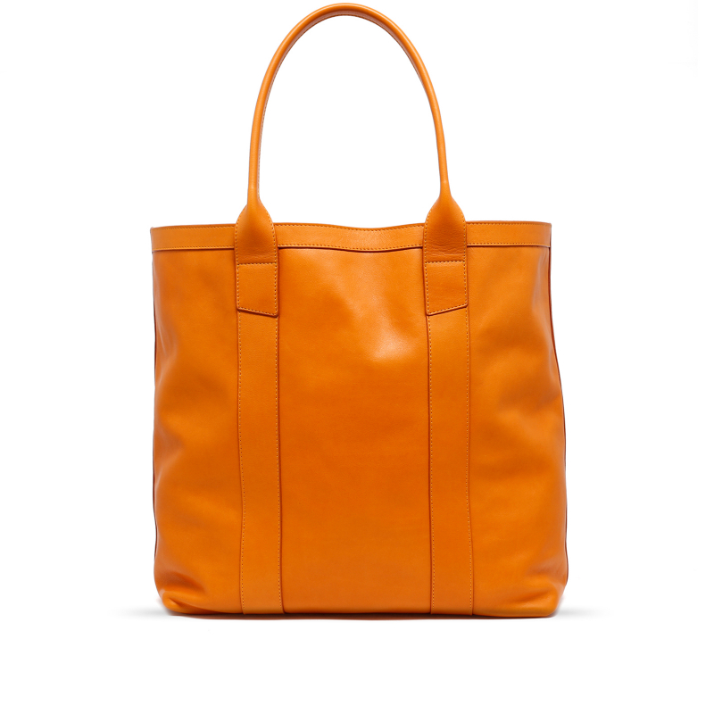 Tall Tote - Honey Mustard - Smooth Tumbled Leather