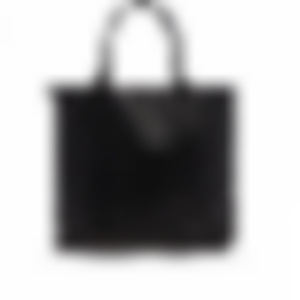 Tall Tote - Black - Tumbled Leather