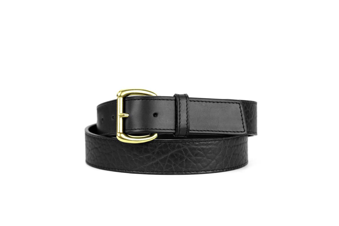 Leather Dress Belt Black