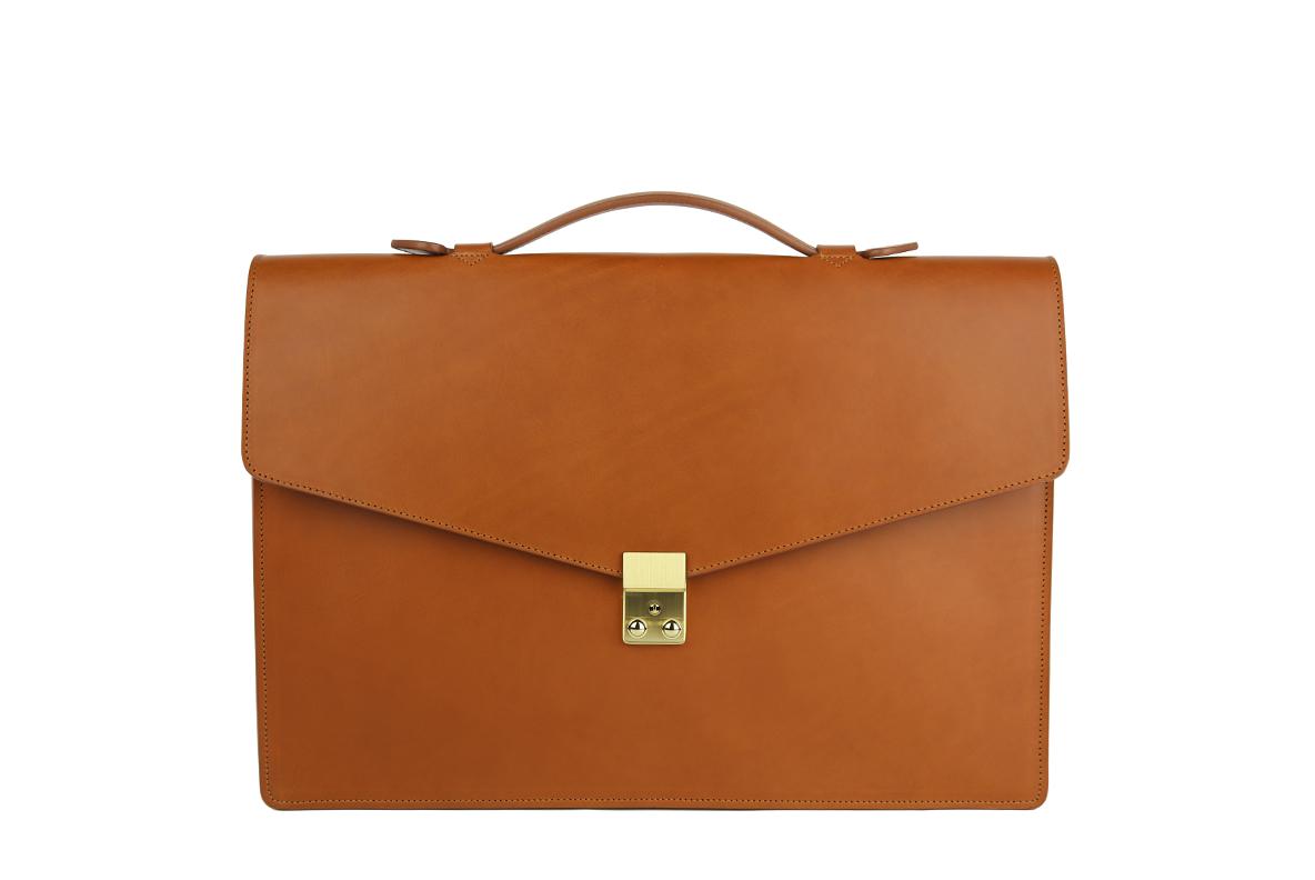 Leather Portoflio With Handle