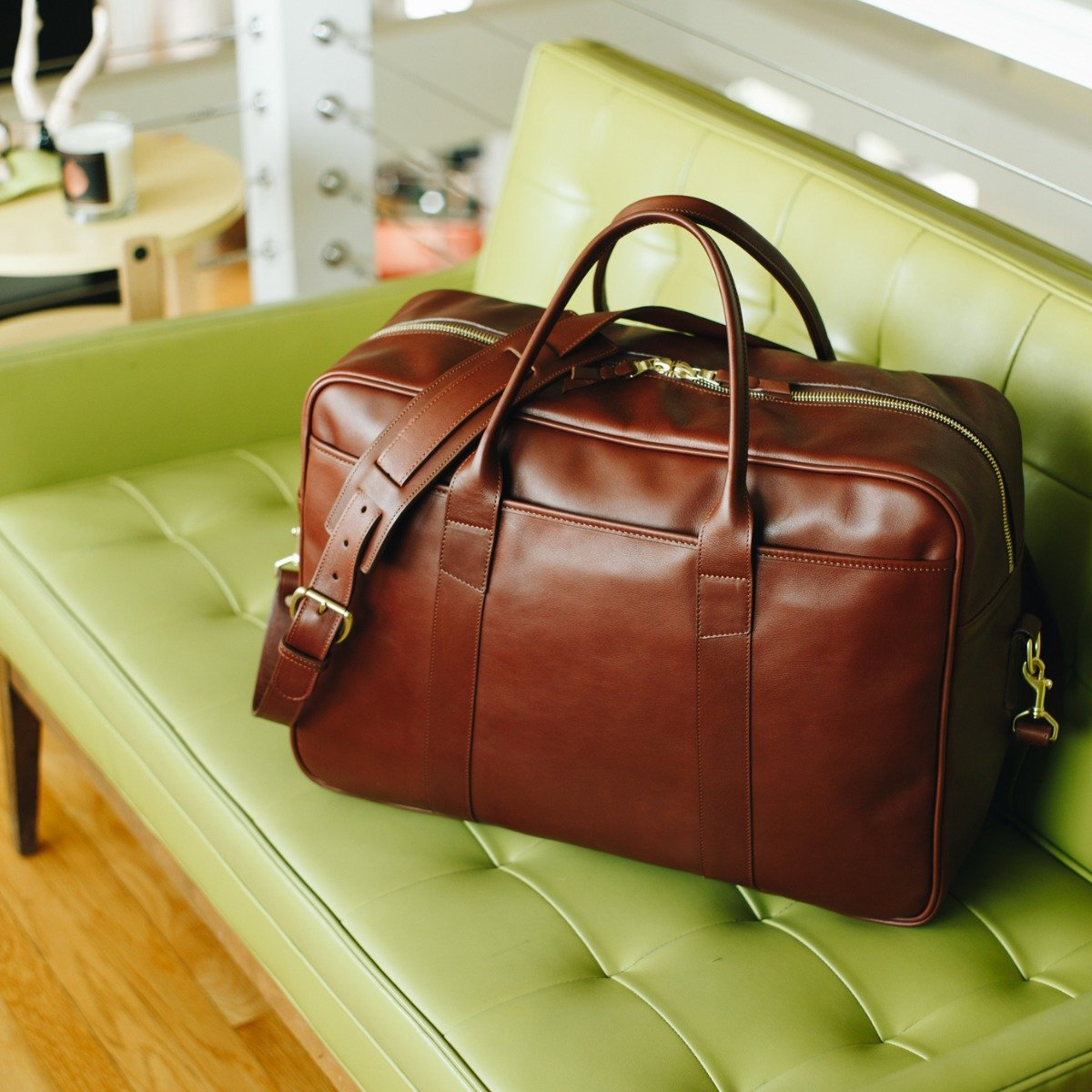 Leather Commuter Duffle Frank Clegg 3