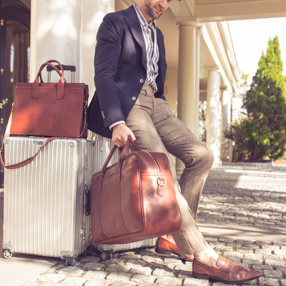 Leather Commuter Duffle Frank Clegg 6
