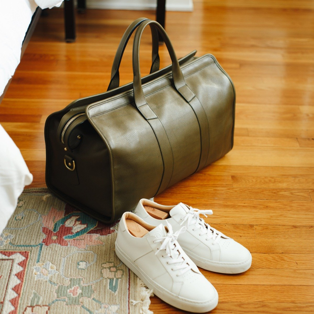 Leather Signature Travel Duffle Frank Clegg14
