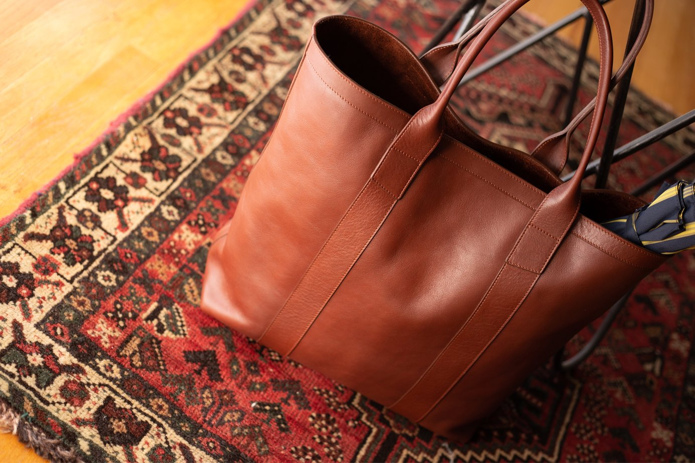 Leather Tall Tote Frank Clegg1