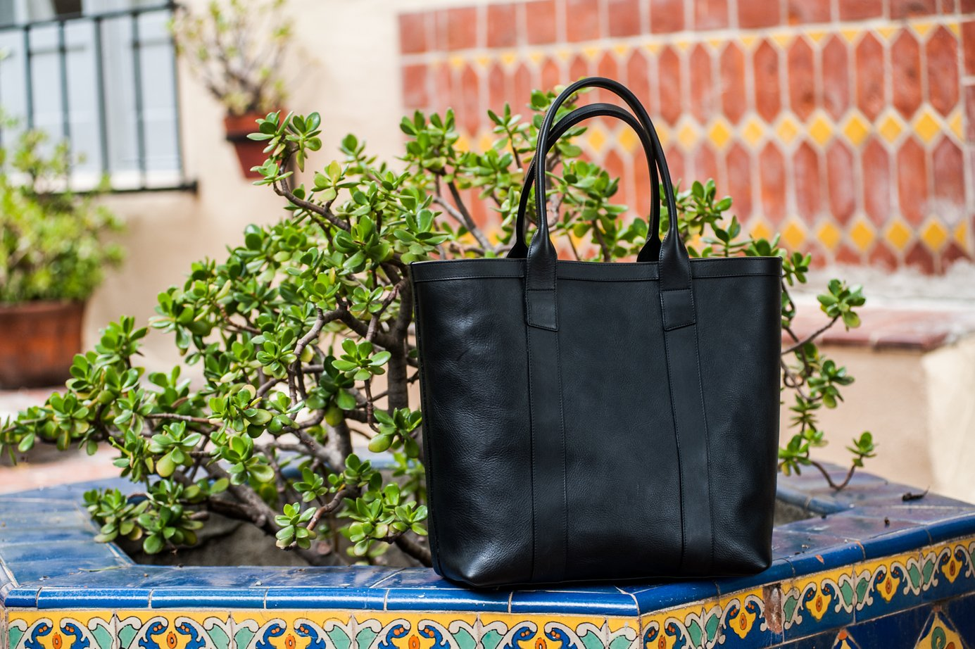 Leather Tall Tote Frank Clegg7
