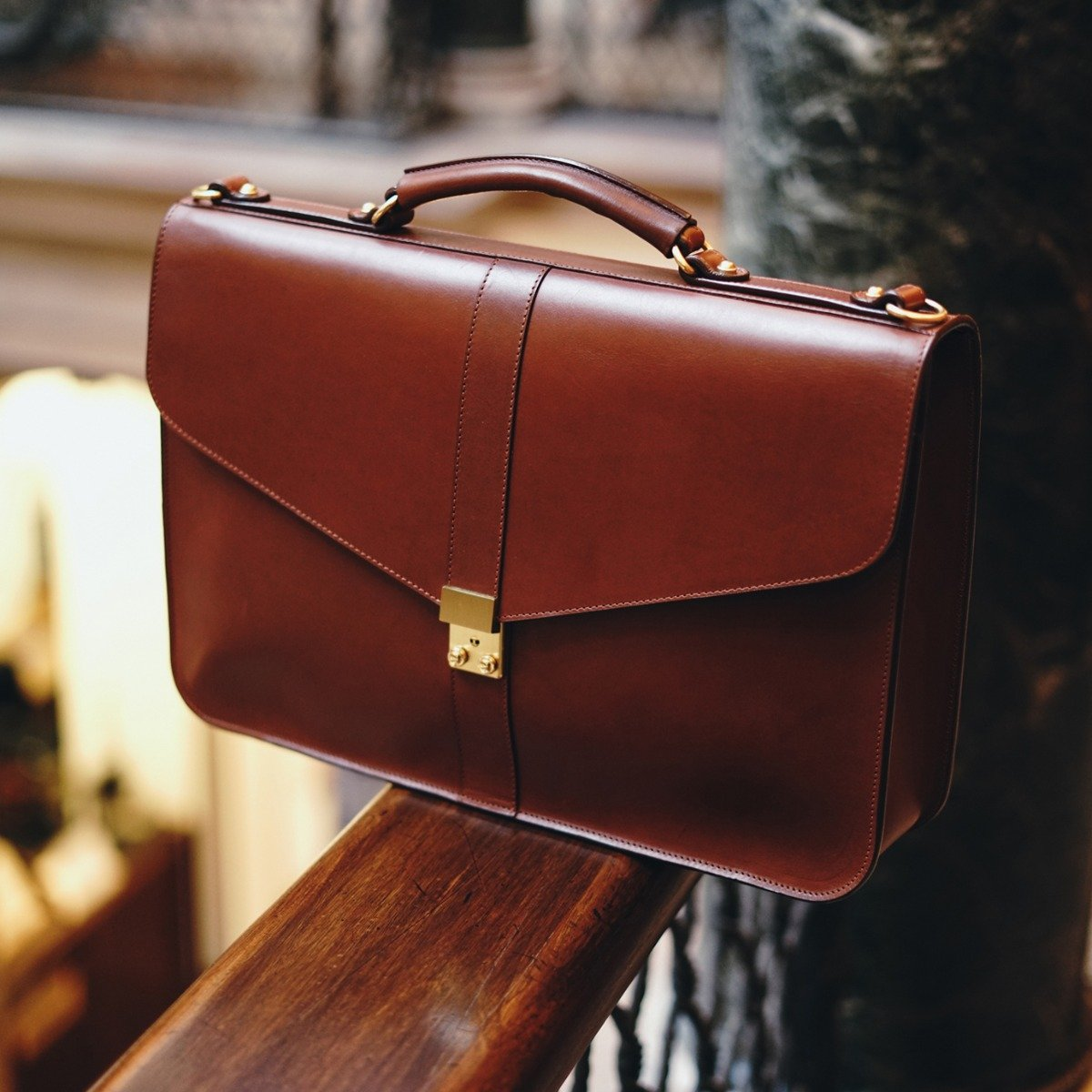 Leather Locking Briefcase Frank Clegg 8