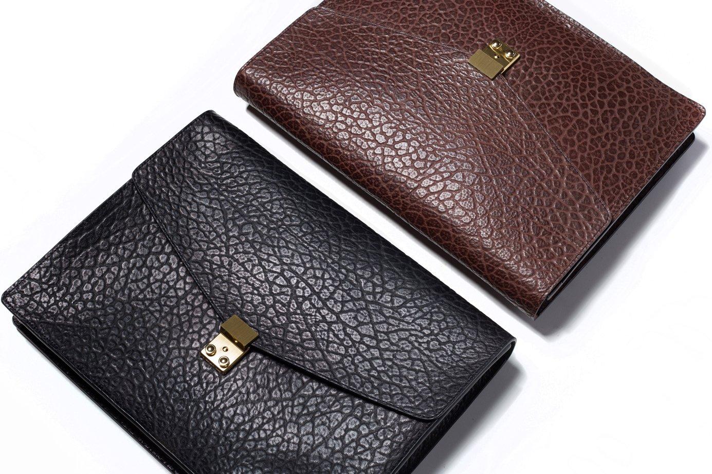 Shrunken Leather Lock Portfolio Frank Clegg
