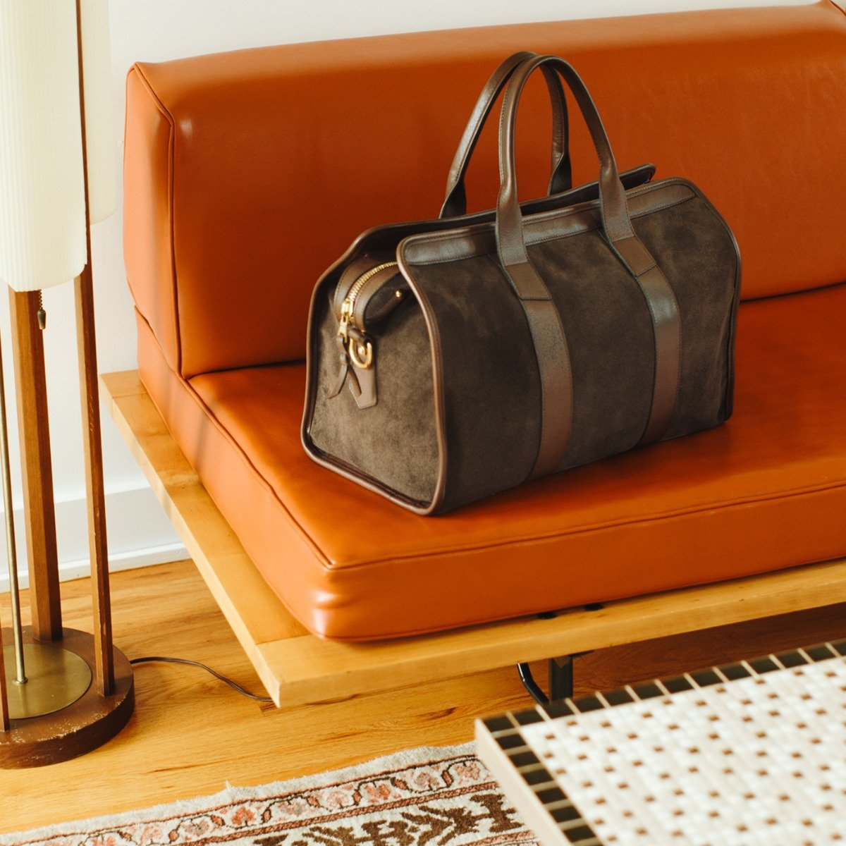 Small Suede Travel Duffle Frank Clegg1