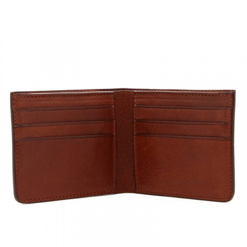 Bifold Wallet - Acorn - Tumbled Leather  in