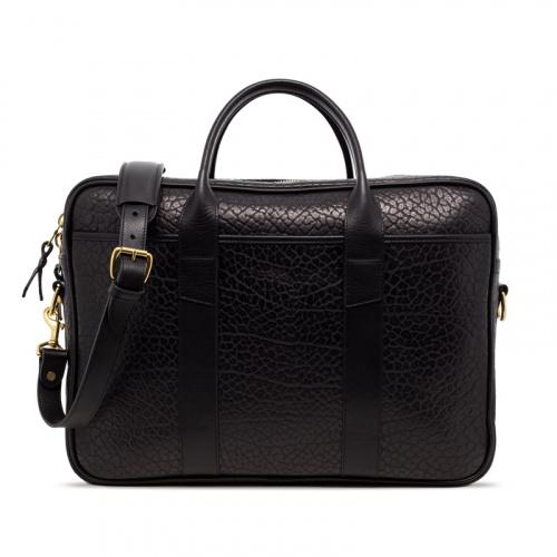 Commuter Briefcase in Shrunken Grain Leather