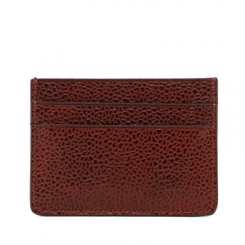 Double Card Wallet - Dark Chestnut - Scotch Grain Leather  in