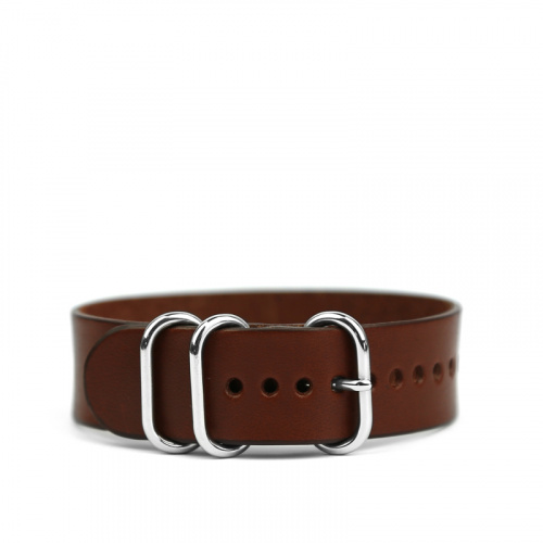 20mm Leather Watch Strap in Harness Belting Leather