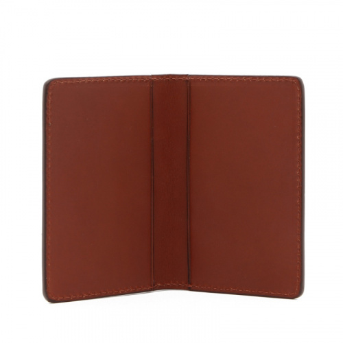 Folding Card Case - Chestnut - Belting Leather  in