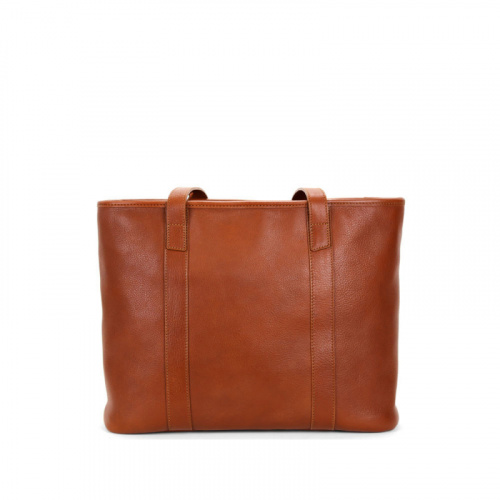 Medium Laurelie Zip-Top Tote in Smooth Tumbled Leather