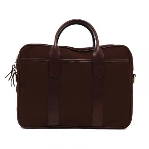 Commuter Briefcase - Chocolate - Sunbrella Fabric in