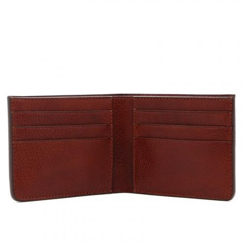 Bifold Wallet - Dark Chestnut - Tumbled Leather in