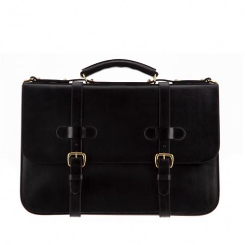 English Briefcase Black Bridle in