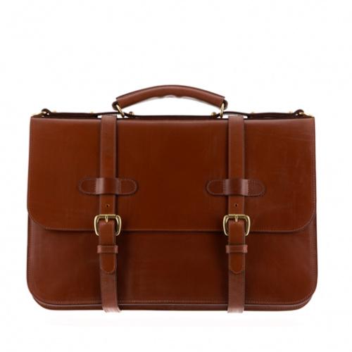 English Briefcase Chestnut Bridle in