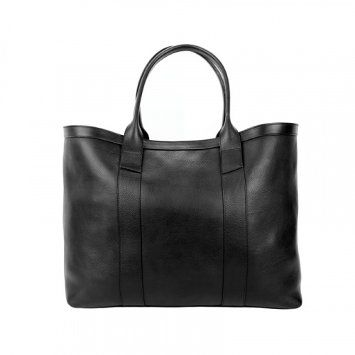 Signature Working Tote in Smooth Tumbled Leather