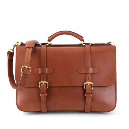 English Briefcase in Harness Belting Leather