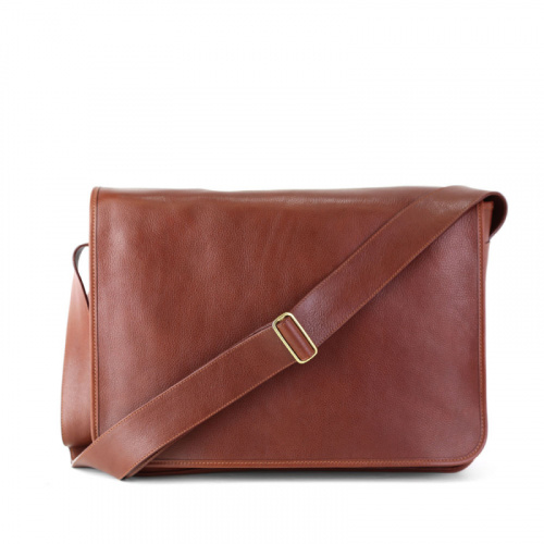 Messenger Bag in Smooth Tumbled Leather
