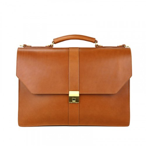 Captain's Briefcase in Harness Belting Leather