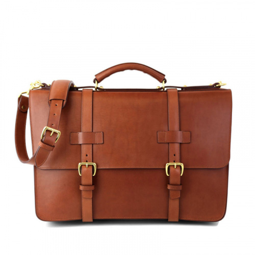 American Briefcase in Harness Belting Leather
