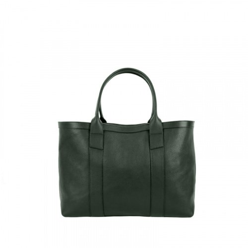 Small Working Tote in Smooth Tumbled Leather