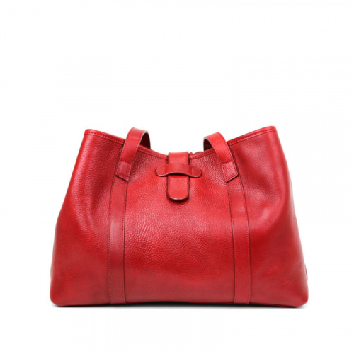 Large Handbag Tote  in Smooth Tumbled Leather