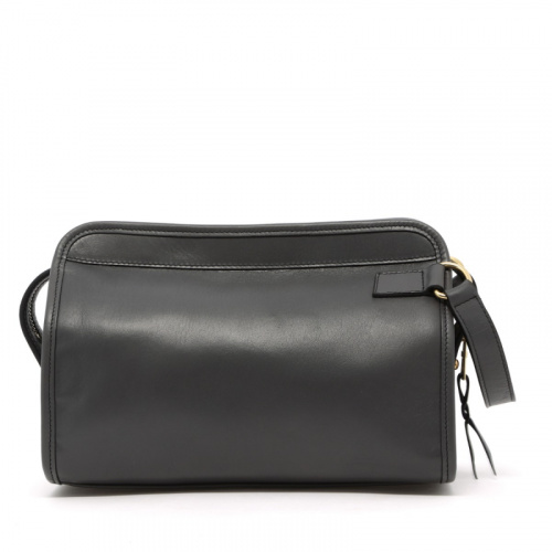 Large Travel Kit - Grey - Tumbled Leather in