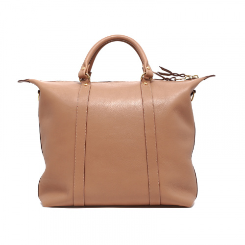 Hampton Tote - Taupe  in Smooth Tumbled Leather
