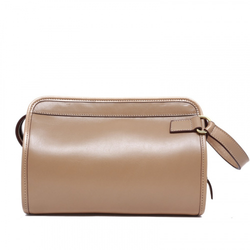 Large Travel Kit - Taupe  in Harness Belting Leather