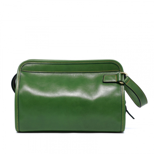 Large Travel Kit - Light Green - Smooth Tumbled Leather in